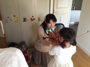 天王寺で出張バイオリン教室!