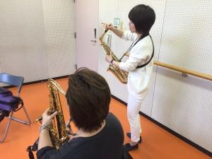 三田で出張サックス教室!