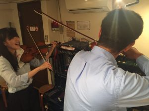 桂で出張バイオリン教室!