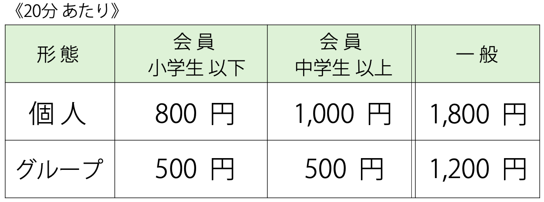 電子オルガン・エレクトーンレッスン料金表