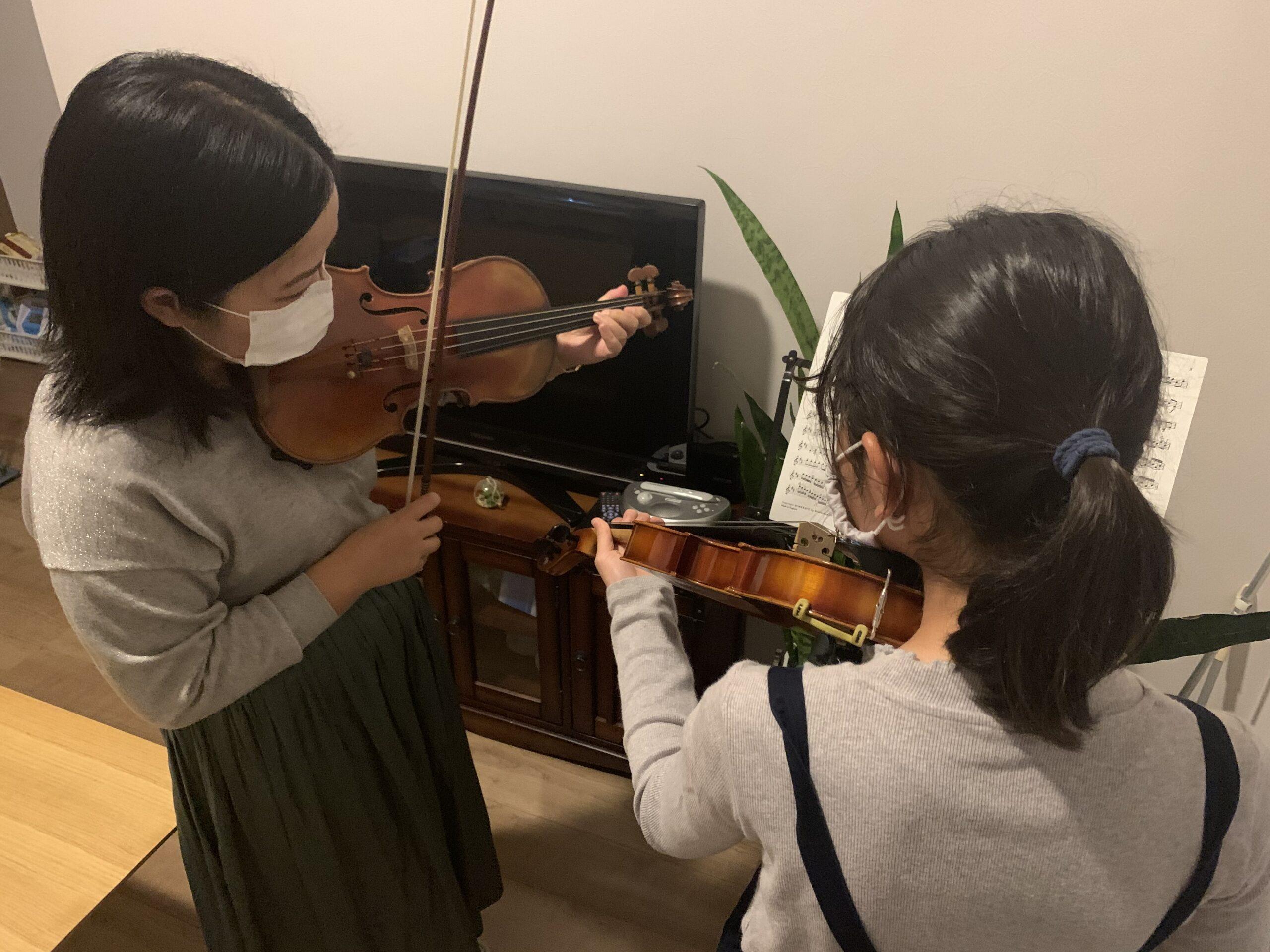 嵐山で出張バイオリン教室