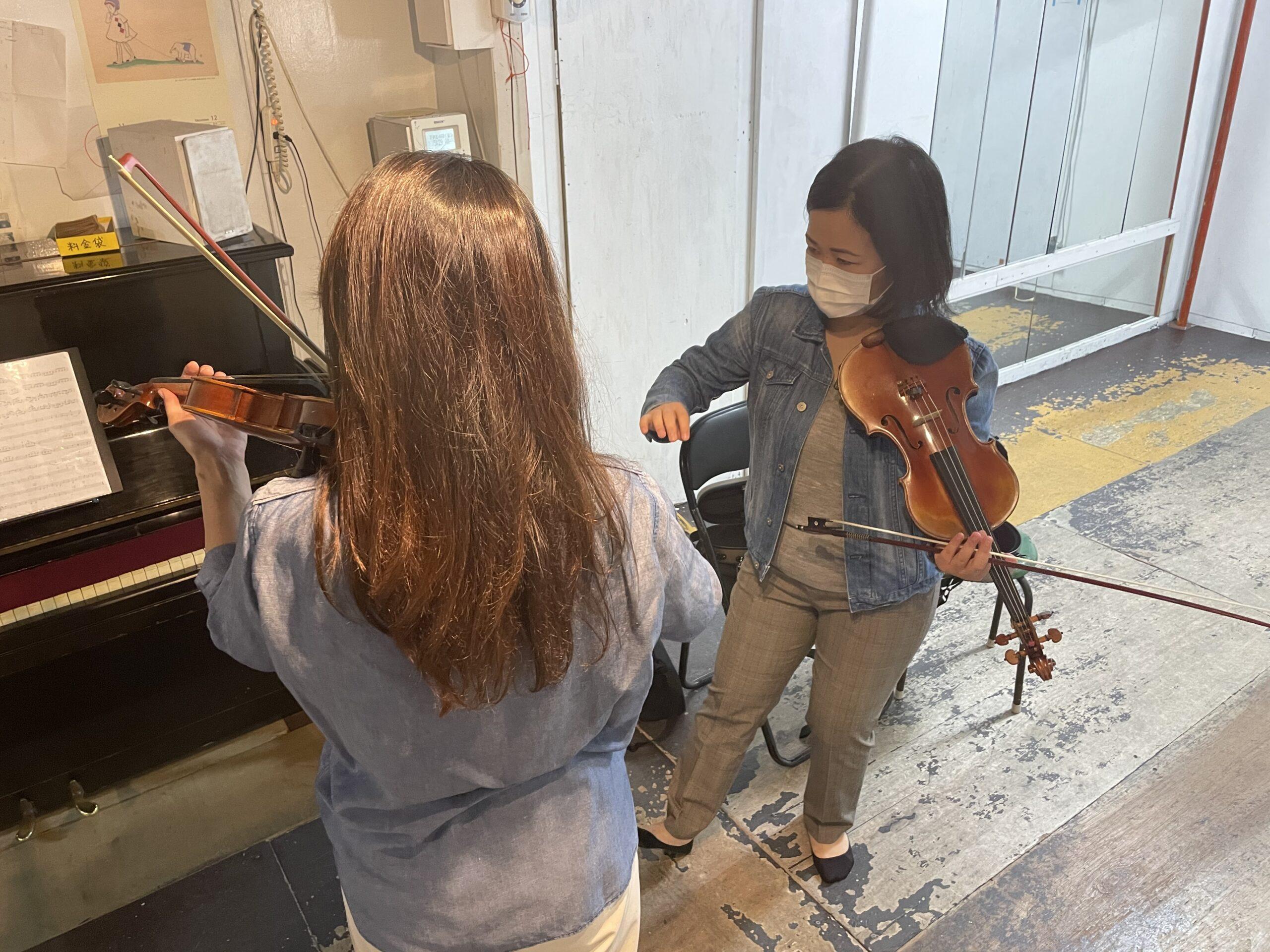 心斎橋で出張バイオリン教室
